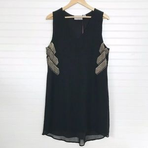 Chloe Oliver Anthropologie Black Shift Dress Large